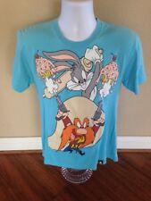 Johnny Cupcakes x Looney Tunes Rare T-Shirt Sz M Bugs Bunny Yosemite Sam Logo