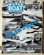 Motor Boat combined with power boating, englische Fachzeitschrift, 1953
