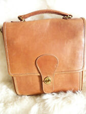 Vintage Coach All Leather Station Handbag Ipad Briefcase Carryall - Beautiful!