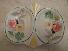 Cynthia Royal  ART DECO STYLE TWIN DISH (Flower Pattern)