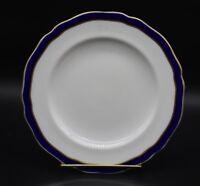 "Copeland Spode English Cobalt Blue & Gold 8 1/2"" Scalloped Lunch Plate (R437)"
