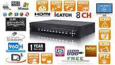 8 CH Embedded Linux 2000GB (2TB) H.264 Network CCTV Security DVR D1 480FPS 960H