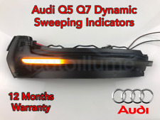 Audi Q5 Q7 SQ5 Sweeping Dynamic LED Wing Door Mirror Indicator Light Lamp Smoked
