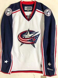Reebok Women's Premier NHL Jersey Columbus Blue Jackets Team White sz M