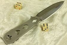 DEALER'S CHOICE coffin shaped boot dagger by Don Cambell.Prototype Custom Knife
