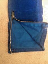 Sandro pantalon 34 36 VELOUR bleu zip chevilles