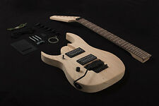 DIY 7 String Left Handed Electric Guitar Kit Project Bolt-On Neck Solid Mahogany