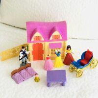 Disney Princess Snow White Polly Pocket Magiclip Doll Royal Party Palace Big Lot