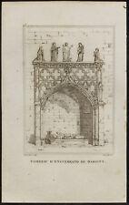 1829 - Incisione Tombeau di enguerrand Marigny