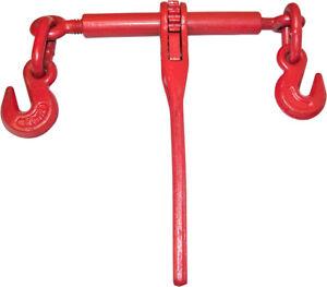 "Ratchet Chain Load Binder 3/8""-1/2"", Chain Hook Tie Down Rigging Equipment"