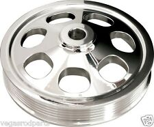 BILLET SPECIALTIES SBC POLISHED POWER STEERING PUMP PULLEY,KEYWAY,SERPENTINE