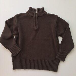 Cherokee 1/4 zip Pullover Brown Sweater size XS (4/5)