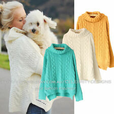 Cowl Neck Solid Regular Size Jumpers & Cardigans for Women