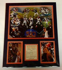 Super Bowl 50 Denver Broncos Champions Matted Prints Elway Manning Football #18