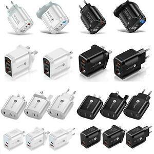 Bufferfly 20W PD + QC 3.0 USB Fast Quick Charge Wall Charger Power Adapter USA