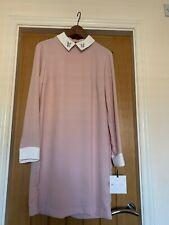 BNWT Victoria Beckham Target Dress Blush Pink Bunny Rabbit Collared MEDIUM