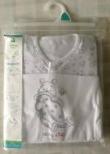 Disney Winnie The Pooh 2 x Cute Unisex Baby All In One Babygrow/Sleepsuits 9-12m