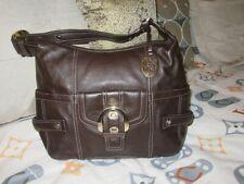Anne Klein genuine Leather handbag shoulder bag. NEW Brown