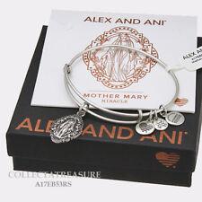 Authentic Alex and Ani Mother Mary iii Rafaelian Silver Charm Bangle