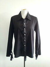 Individual Style! VSSP size 16 black cotton blend long sleeve shirt