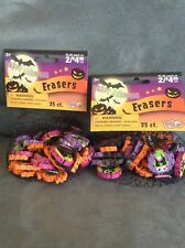HAPPY HALLOWEEN 25 COUNT MINI ERASERS FOR AGES 3+ - BRAND NEW IN PACKAGE X 2