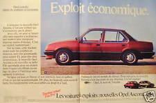 PUBLICITÉ 1981 OPEL ASCONA TRACTION AVANT 7 OU 8 CV - ADVERTISING