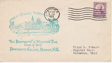 POSTAL HISTORY -1932 DANIEL WEBSTER DARTMOUTH COLLEGE, HANOVER NH EVENT COVER