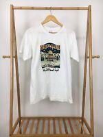 VTG Jerusalem Israel Thin White Short Sleeve T-Shirt Size XL