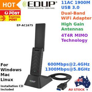 EDUP AC 1900 Mbps High Gain WiFi Wireless USB 3.0 Adapter Dual Band AU STOCK