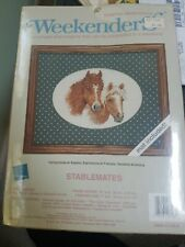 Unopened Weekenders Counted Cross Stitch Kit - Stablemates 7 x 5 in Made in USA