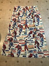 Pair Of 1970's Vintage NFL Team Sears Perma-Prest Curtains 61x51 Inches
