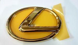 FITS NEW LEXUS FRONT EMBLEM GOLD GRILLE GRILL LS460 ES350 GS300 GS350 GS460 RX