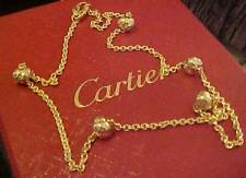 """CARTIER Trinity Baby Ball Necklace 18kt yellow gold 16"""" long"""