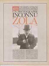 COUPURE DE PRESSE CLIPPING 1967 Emile Zola le photographe (16 pages)