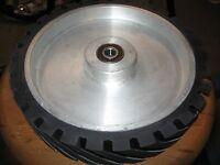 "2""x72"" Belt Grinder Serrated Contact Wheel, 10"" Knife Making Contact Wheel"