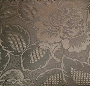 BROWN Damask Rose Tablecloths & Napkins *Beautiful Traditional Design* Many Size