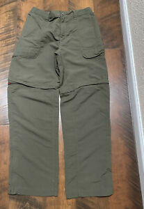 The North Face olive green convertible hiking pants men's m