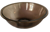 Vintage Pyrex Smoky Glass Mixing Bowl 4 L Rimmed #326