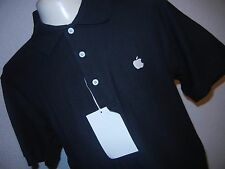 APPLE LOGO Button Up Polo Embroidered Shirt  iPod NEW XS PORT AUTHORITY NEW