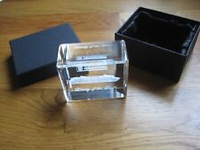 Liberty Of The Seas Crystal Glass Paperweight Royal Caribbean