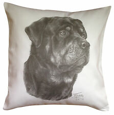 Rottweiler MS Breed of Dog Themed Cotton Cushion Cover - Perfect Gift