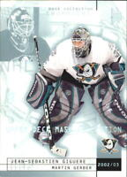 2002-03 UD Mask Collection Hockey Cards Pick From List
