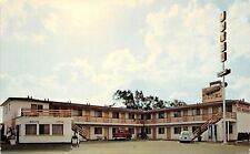 San Ysidro CA Frontier Motel~Dodge Pickup~White VW Beetle~Phone Booth 1960s