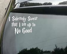 Harry Potter Solemnly Swear Funny Car/Window JDM VW EURO Vinyl Decal Sticker