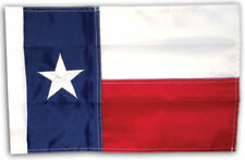 "Texas State Flag 12"" x 18"" 12x18 Embroidered Garden Sleeve Hem Pole USA SHIPPER"