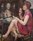 Lili Elbe by Gerda Wegener smoking plays poker 8 x 10 Art Print