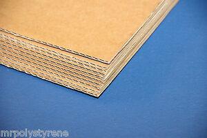CORRUGATED BOARD CARDBOARD SHEETS BROWN DOUBLE SINGLE WALL OFFCUT 600 X 400MM