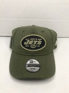 New York Jets New Era 9TWENTY NFL Adjustable Strapback Hat Dad Cap Green