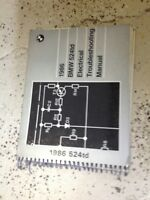 1986 BMW 524TD 524 TD Electrical Troubleshooting Service Repair Manual Paper ETM