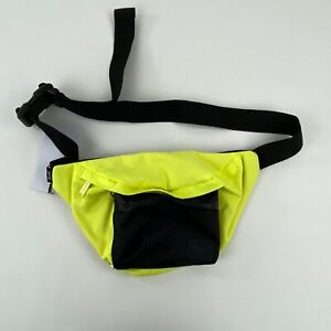 Herschel Supply Co Seventeen Fanny Pack Neon Yellow and Black Key Clip
